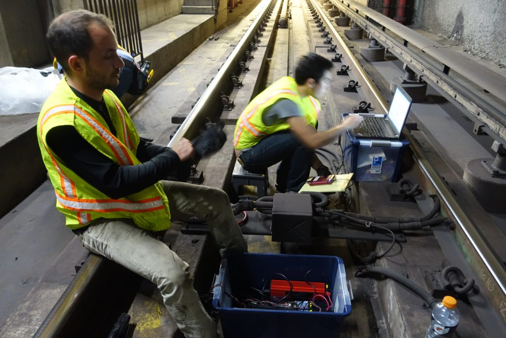 Men working on the rail tracks