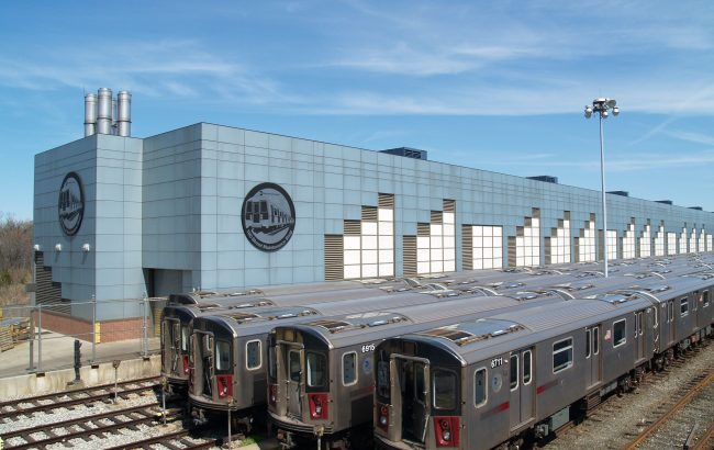 R142s at NYCT East 180 St Shop
